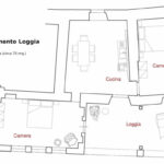 planimetria Loggia Castello di Pratelli